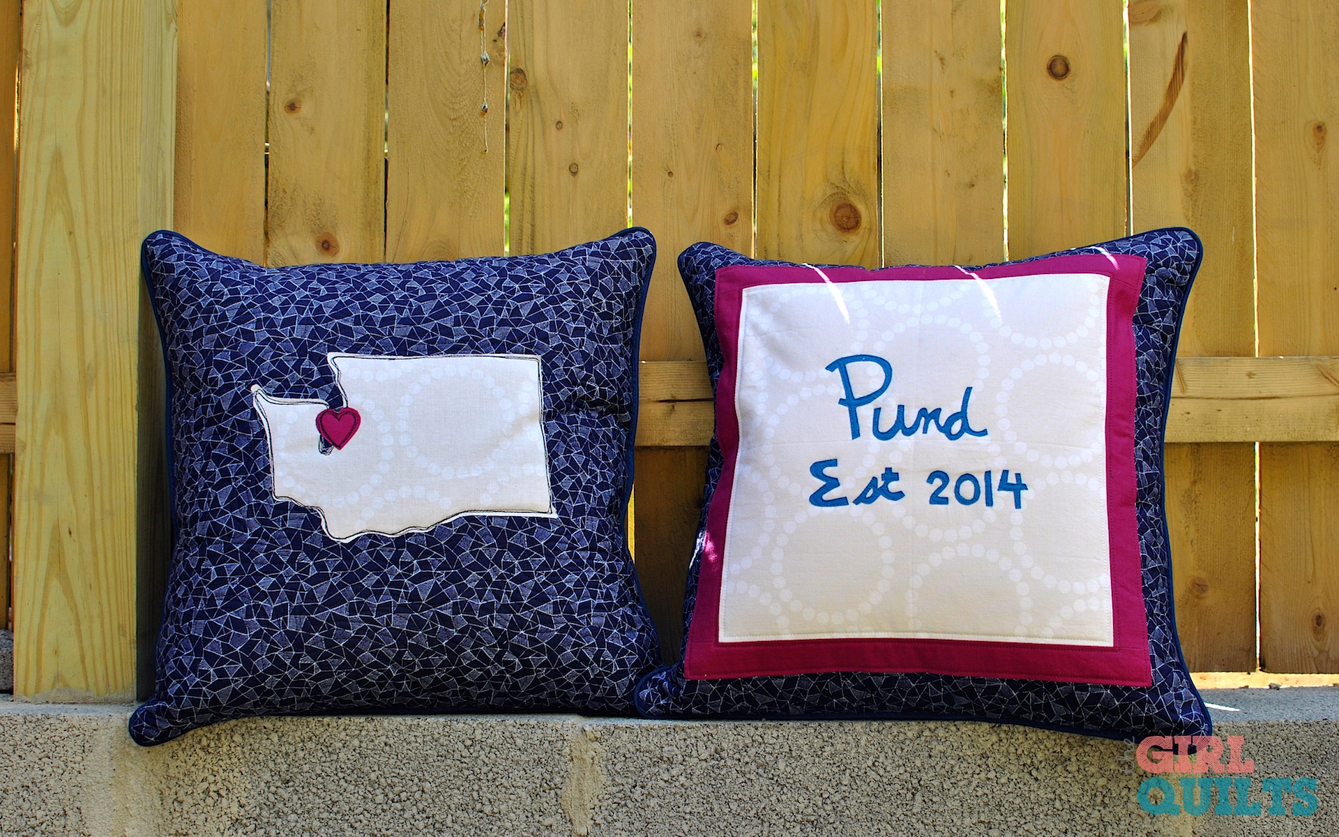 Pund wedding pillows