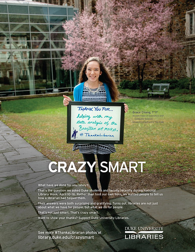 Crazy Smart Thank A Librarian