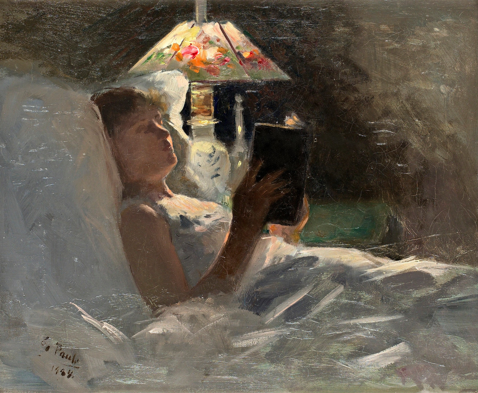 The Reading Light by Georg Pauli, 1884