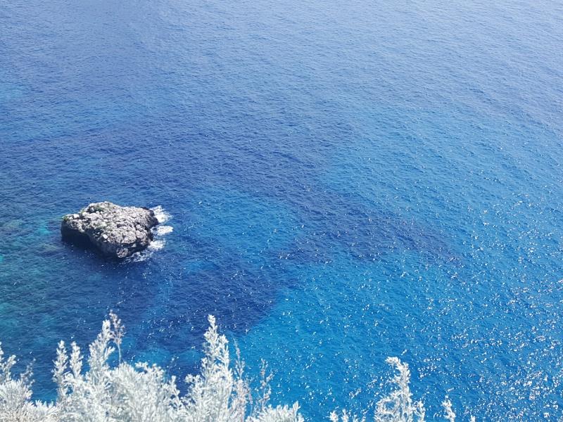 teal blue waters