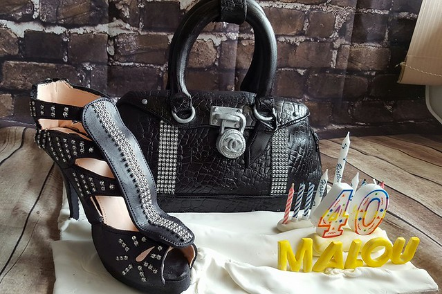 Keyk Arte Edible Handbag and Shoe by Melody Anson