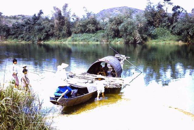 Hue 1970 -  Sugar Cane Boat