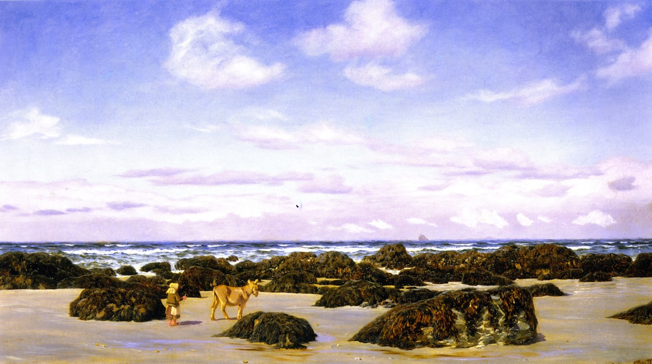 View on the Beach at St. Agnes by John Edward Brett, A.R.A. (1873)