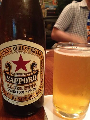 とりあえずのビール@会員制高級紳士餃子 荻窪 蔓餃苑