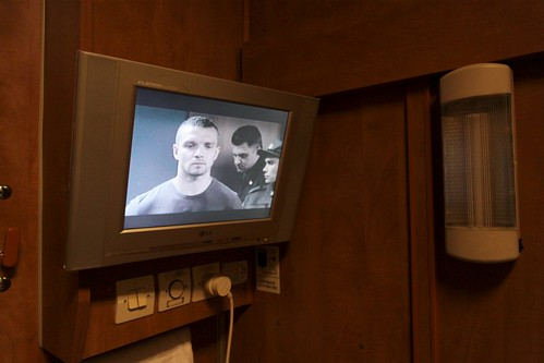 We can even watch Russian TV on the train!