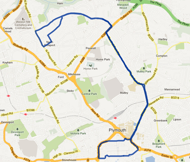 Citybus route-35 Map MAY 2013