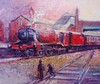 LMS Steam Train Liner my painting