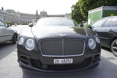 bentley continental supersports(0.0), city car(0.0), automobile(1.0), automotive exterior(1.0), wheel(1.0), vehicle(1.0), performance car(1.0), automotive design(1.0), bentley continental gtc(1.0), bentley continental flying spur(1.0), grille(1.0), bentley continental gt(1.0), bumper(1.0), land vehicle(1.0), luxury vehicle(1.0), bentley(1.0),