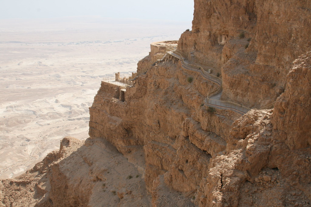 Masada, the famed historic site of Herod's palace on the Judean Desert overlooking the Dead Sea.
