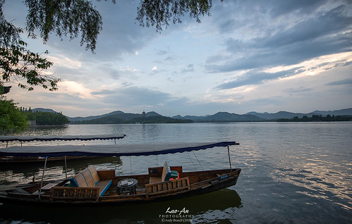 china sky lake clouds boats nikon westlake nikkor unescoworldheritage tranquil d800 sunsethill leifengpagoda photonmix laoanphotography