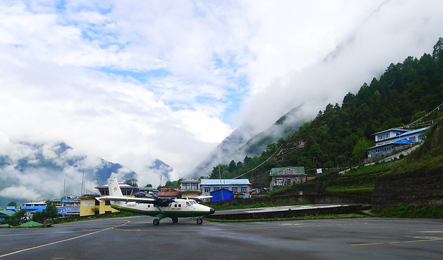 at Lukla's Tenzing-Hillary Airport