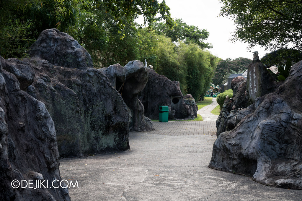 Haw Par Villa - eerie path to ten courts