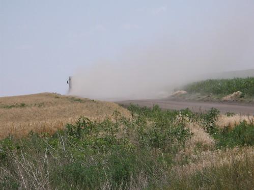 Very dusty roads