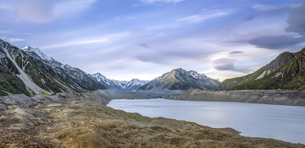 Tasman Lake Canterbury New Zealand Tripcarta