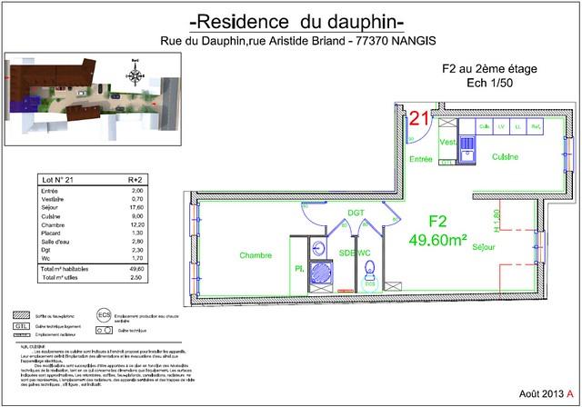 Résidence du Dauphin - Plan de vente - Lot n°21
