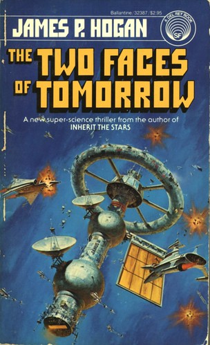 The Two Faces of Tomorrow by James P. Hogan. Del Rey 1984. Cover artist Darrell K. Sweet