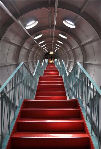brussels architecture stairs belgium belgique tube belgië bruxelles tunnel brussel atomium architectuur wereldtentoonstelling expo58 andréwaterkeyn heizelpark worldssfair andréjeanpolak