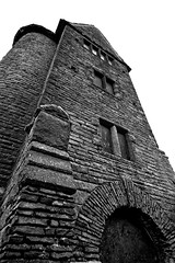 Project 365 #236 - Pidgeon Tower Terraced Gardens Rivington (Black and White)