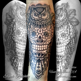 Owl Sugar Skull Tattoo Meaning