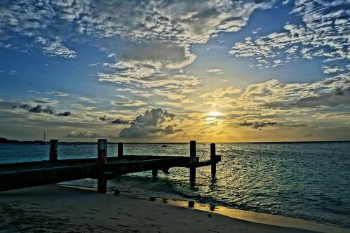 ocean sunset vacation sun beach water hdr