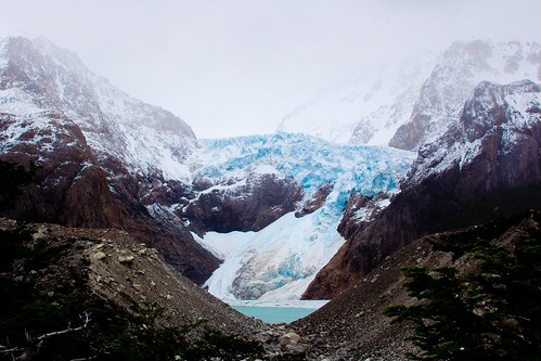 Glaciar en el Trekking de la Laguna de los Tres