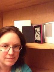 Bookshelfie with kindles