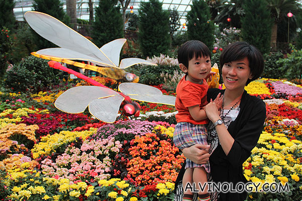 Rachel and Asher at the Flower Dome for Mid-Autumn