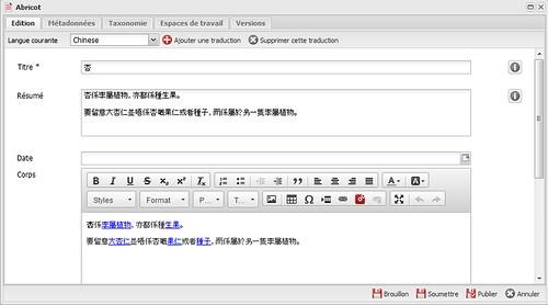 Traduction des contenus