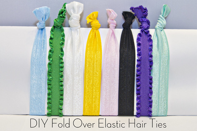 DIY Fold Over Elastic Headbands & Hair Ties