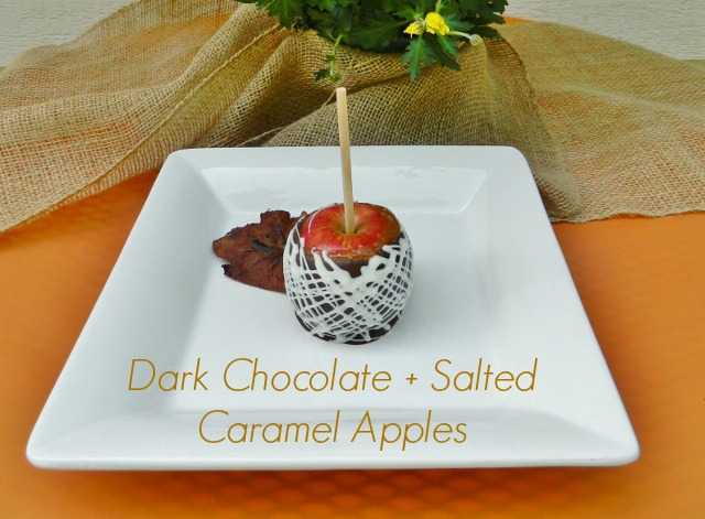 dark chocolate caramel apples