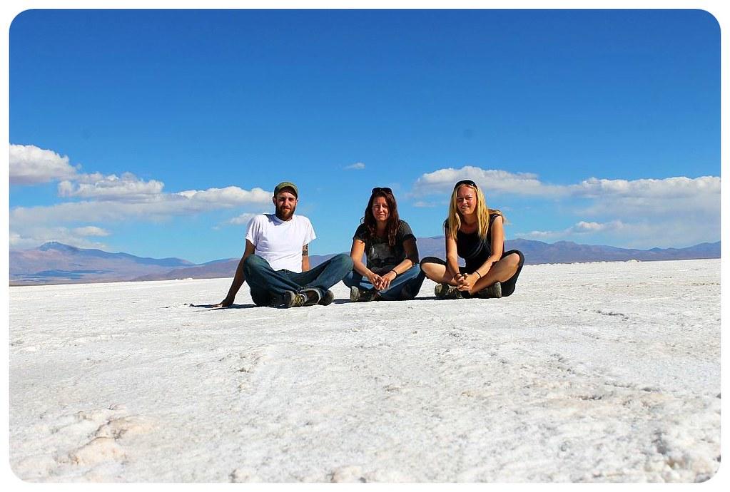 argentina salinas grandes salt flats jess & hernan & dani