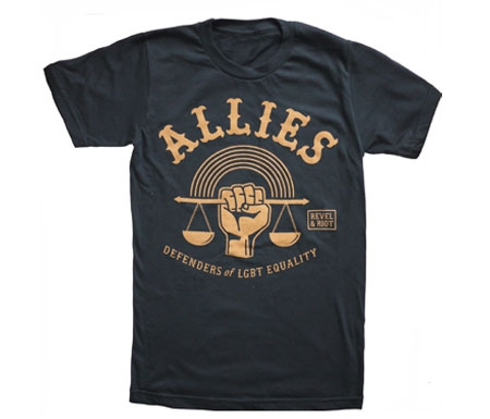 "A shirt that says ""allies"""