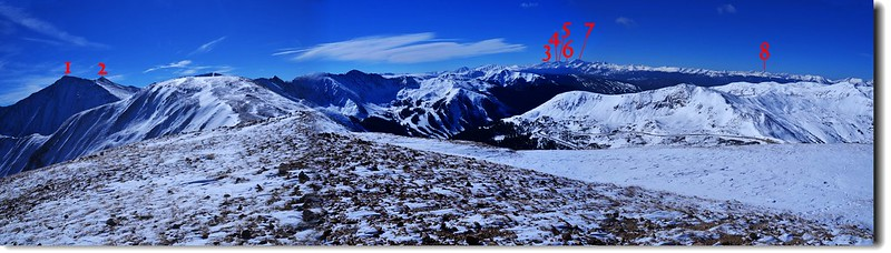 Loveland Pass Point 12,915'遠眺西、南邊幾座14ers 1