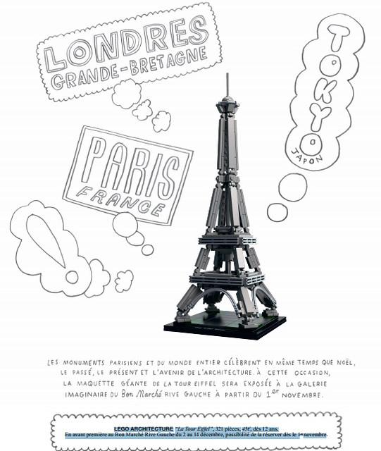 Eiffel Tower Lego Set Lego Eiffel Tower