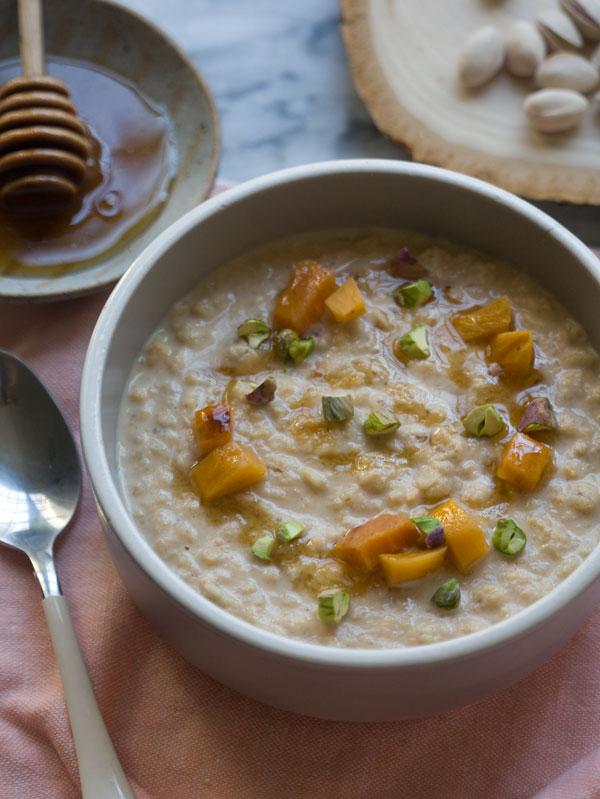 Persimmon Porridge // www.acozykitchen.com