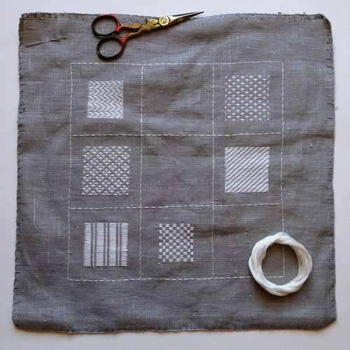 Darning Sampler - Progress