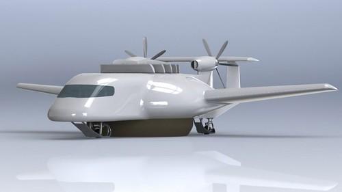 ESTOLAS – гибрид самолета, вертолета, корабля на воздушной подушке и дирижабля