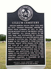 Photo of Gillum Cemetery black plaque