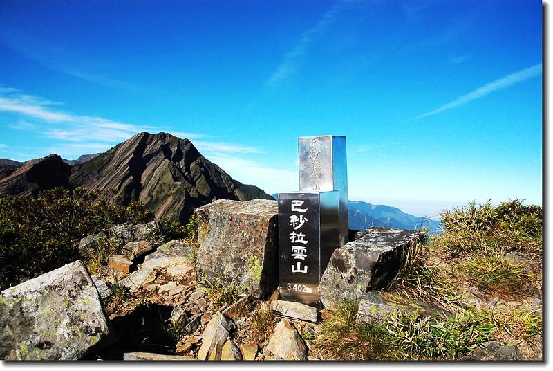 巴紗拉雲山不鏽鋼標柱(Elev. 3402 m)