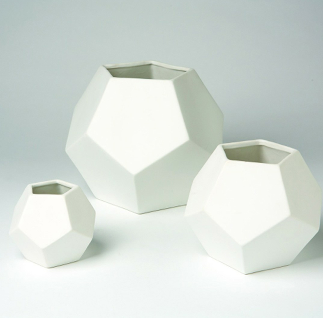white faceted