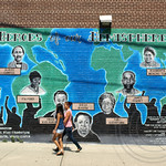 HEROES OF OUR HEMISPHERE Graffiti Mural, Passaic, New Jersey