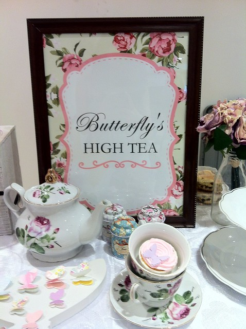 Butterfly high tea