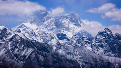 Everest-Nuptse-Lhotse z Renjo Pass
