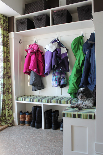 mudroom angle #mudroom #renovation