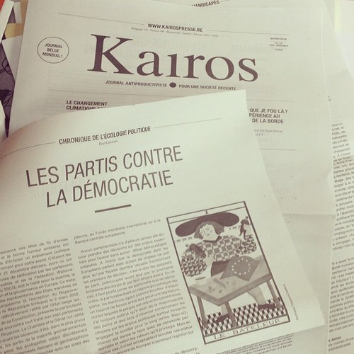 My contribution for the newspaper Kairos by la casa a pois