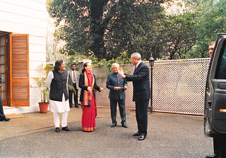 Secretary of State Colin Powell visited India January 17-18, 2002
