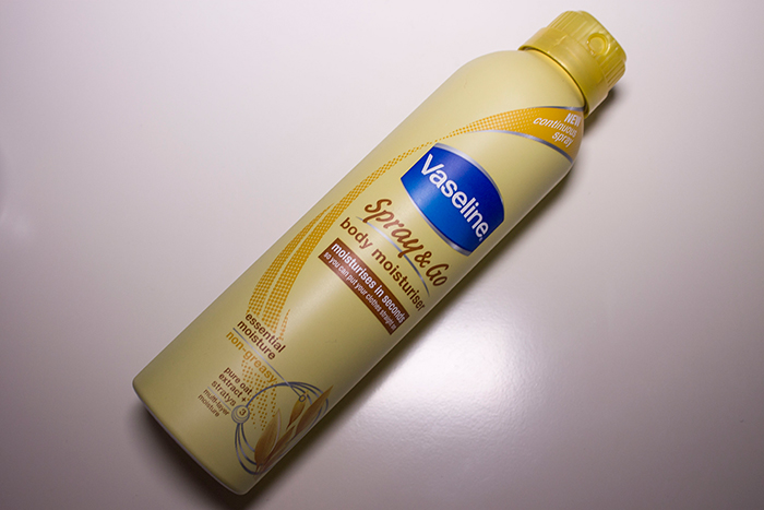 Vaseline Spray and Go Moisturiser in Essential Moisture