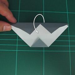 วิธีพับกระดาษเป็นรูปลูกสุนัข (แบบใช้กระดาษสองแผ่น) (Origami Dog) 019