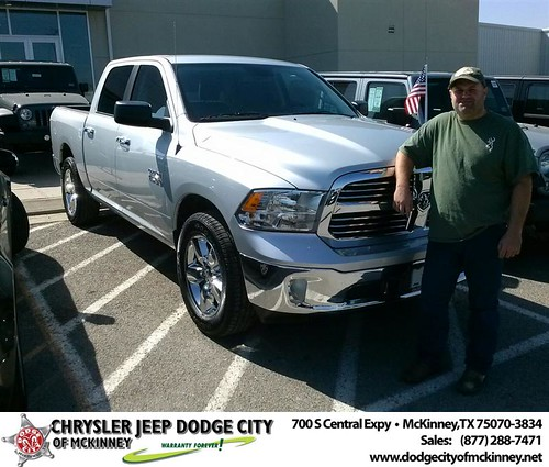 Thank you to David Larocca on your new 2014 #Ram #1500 from David Walls and everyone at Dodge City of McKinney! by Dodge City McKinney Texas