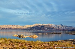 Late evening on lake Mead, Nevada